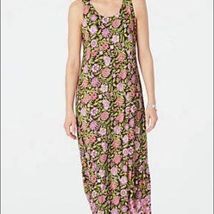 J Jill floral maxi dress
